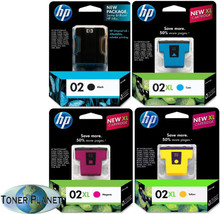 HP 02/02XL 4-Color Combo Pack (02 Black, 02XL Cyan, 02XL Yellow, 02XL Magenta)