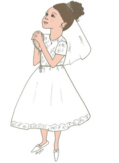 communion Girl cards