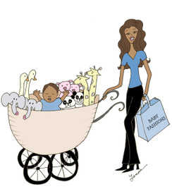 Noah's Ark Mom with Baby Boy cards