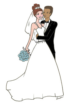"Interracial ""Marriage"" Bridal cards"