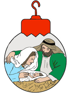 Nativity OrnamentChristmas cards
