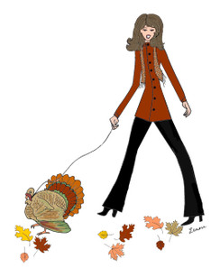 Thanksgiving Diva... Turkey Walker cards