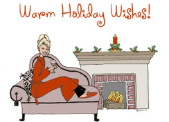 Warm Holiday Wished Christmas cards
