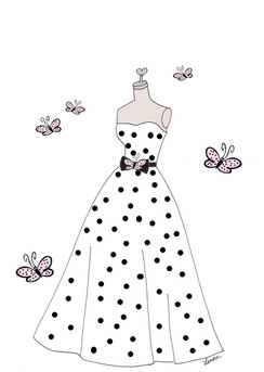 Polka Dot Dress cards
