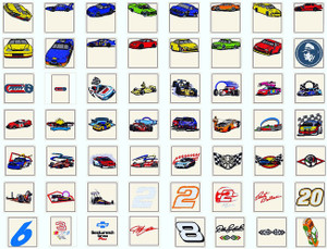 NASCAR SPORTS CARS RACING MACHINE EMBROIDERY DESIGNS