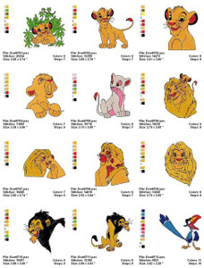 LION KING MACHINE EMBROIDERY DESIGNS
