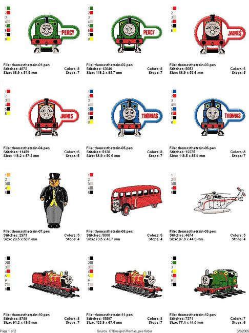 Thomas The Tank Engine Machine Embroidery Designs