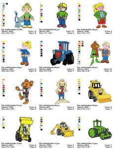 BOB THE BUILDER MACHINE EMBROIDERY DESIGNS