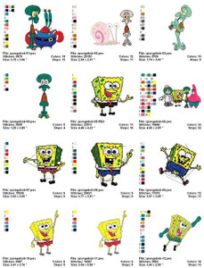 SPONGE BOB MACHINE EMBROIDERY DESIGNS
