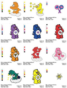 CAREBEARS MACHINE EMBROIDERY DESIGNS