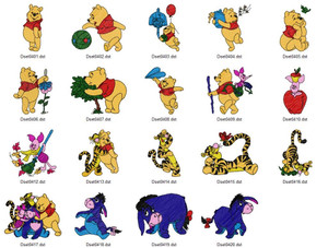 POOH AND THE GANG  DISNEY HOLIDAY EMBROIDERY DESIGNS INSTANT DOWNLOAD BEST COLLECTION