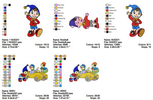 NODDY EMBROIDERY DESIGNS INSTANT DOWNLOAD BIG COLLECTION