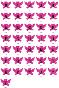 ANGEL BEAR  ALPHABETS A-Z NUMBERS 0-9 EMBROIDERY DESIGNS INSTANT DOWNLOAD CUTE COLLECTION