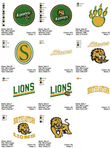 Southeastern Louisiana University SELU EMBROIDERY DESIGNS INSTANT DOWNLOAD BEST COLLECTION