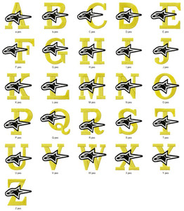 ALPINE ALPHABETS A-Z  EMBROIDERY DESIGNS INSTANT DOWNLOAD BEST COLLECTION