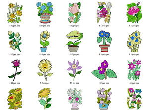 COLORFUL FLOWERS EMBROIDERY DESIGNS INSTANT DOWNLOAD BEST COLLECTION