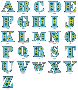 BERTHA ALPHABETS FONT   EMBROIDERY DESIGNS INSTANT DOWNLOAD HUGE  COLLECTION