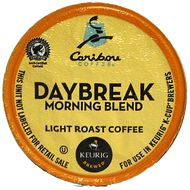 Caribou Coffee Daybreak Morning Blend K Cups, 24 Count