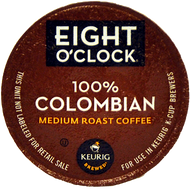 Eight O'Clock 100% Colombia K Cups, 24 Count
