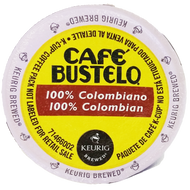 Cafe Bustilo 100% Colombian Medium Roast K cups, 24 Count