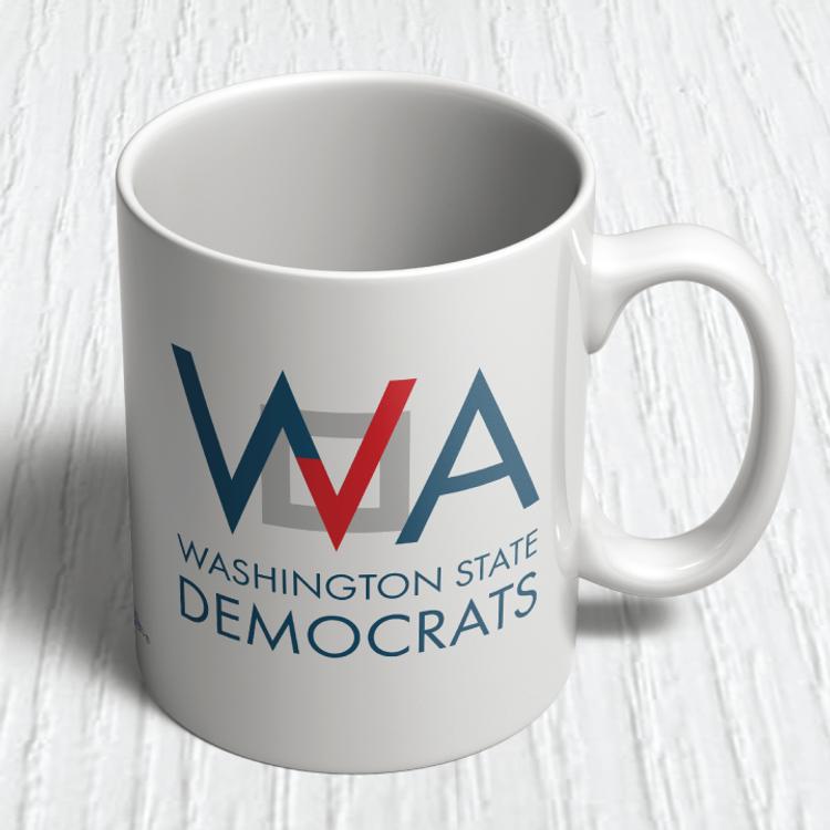 Washington Democrats Official Logo  (11oz. Coffee Mug)