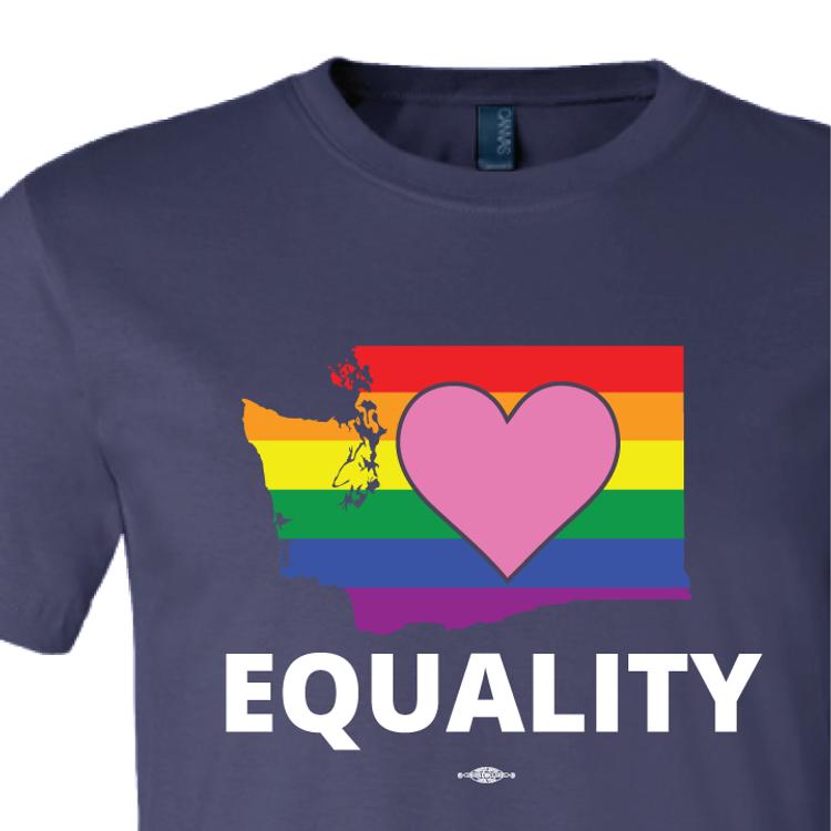 """Equality Washington Democrat "" (Navy Tee)"