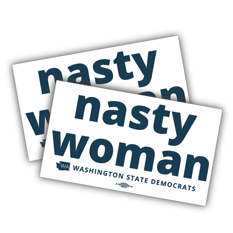 """Nasty Woman (6.5"""" x 4"""" Vinyl Sticker -- Pack of Two!)"""
