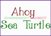 AHOY SEA TURTLE Machine Embroidery Designs Fonts Instant Download