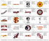 20 FLORIDA STATE SEMINOLES TEAM LOGOS EMBROIDERY MACHINE DESIGNS INSTANT DOWNLOAD