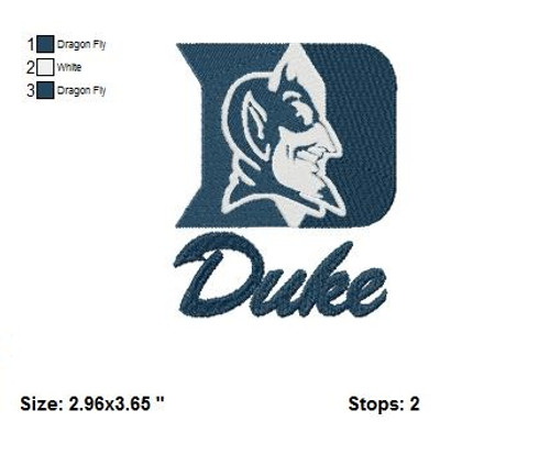 Duke Blue Devils Basketball  Sports Team Football Machine Embroidery Designs Instant Download