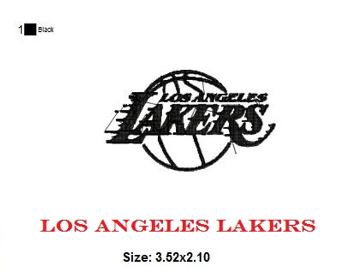 Los Angeles Lakers Basketball Sports Team Football Machine Embroidery Designs Instant Download