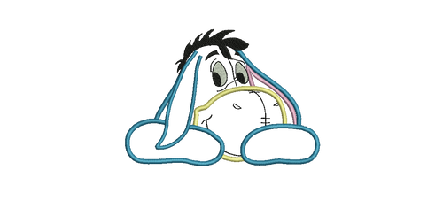 Eeyore Winnie the Pooh character Applique Embroidery Designs Instant Download