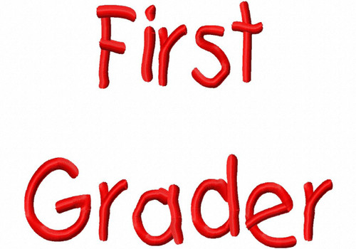 First Grader Machine Embroidery Designs Fonts Instant Download