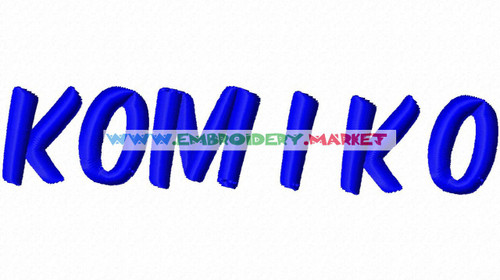 KOMIKA AXIS Machine Embroidery Designs Fonts Instant Download