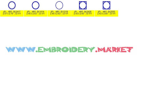 GREEK CIRCLE MONO Machine Embroidery Designs Fonts Instant Download
