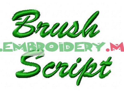 BRUSH SCRIPT Machine Embroidery Designs Fonts Instant Download