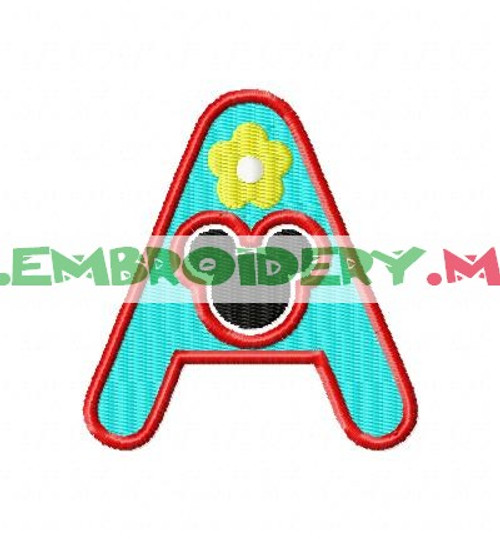 MH -S  Machine Embroidery Designs Fonts Instant Download