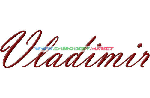 VLADIMIR SCRIPT  Machine Embroidery Designs Fonts Instant Download