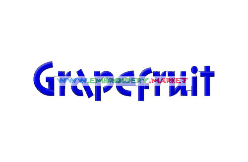 GRAPE FRUIT Machine Embroidery Designs Fonts Instant Download