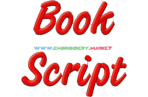 BOOK SCRIPT Machine Embroidery Designs Fonts Instant Download