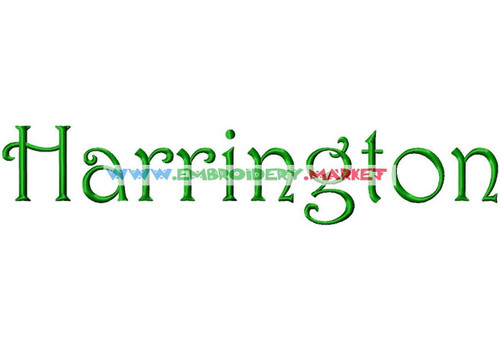 HARRINGTON Machine Embroidery Designs Fonts Instant Download