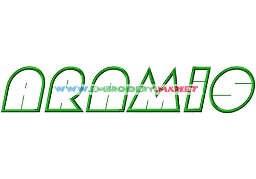 ARAMIS Machine Embroidery Designs Fonts Instant Download