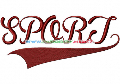 SPORTS Machine Embroidery Designs Fonts Instant Download