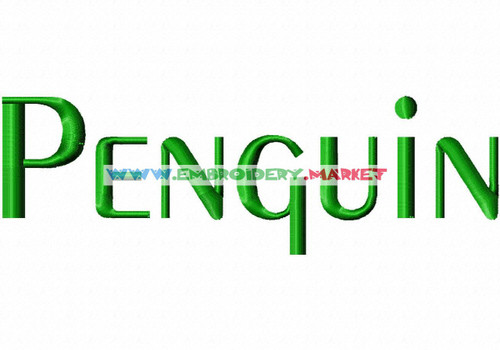 PENGUIN Machine Embroidery Designs Fonts Instant Download