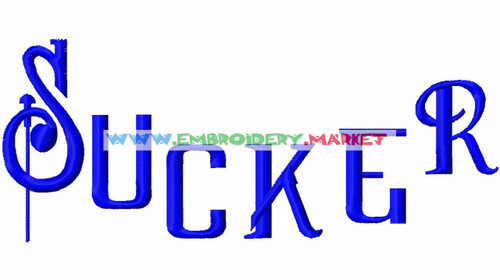 SUCKER FONT Machine Embroidery Designs Fonts Instant Download