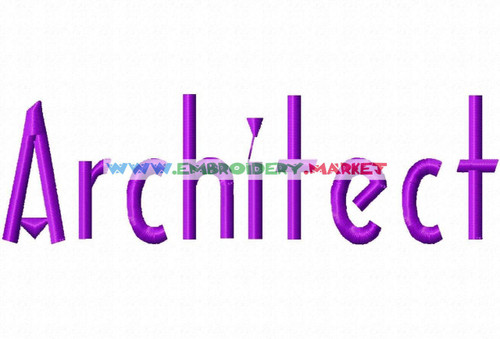ARCHITECT Machine Embroidery Designs Fonts Instant Download