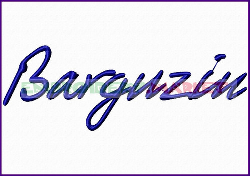 BARGUZIN Machine Embroidery Designs Fonts Instant Download