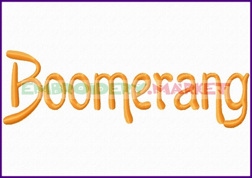 Instant Stencils Product : Boomer rang machine embroidery designs fonts instant download