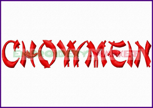CHOWMEIN Machine Embroidery Designs Fonts Instant Download