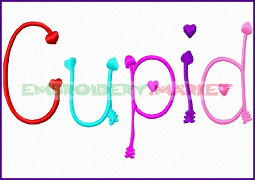 CUPID Machine Embroidery Designs Fonts Instant Download